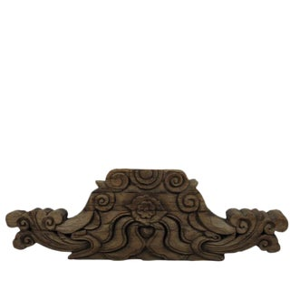 Antique Chinese Hand Carved Wood Architectural Ornament For Sale