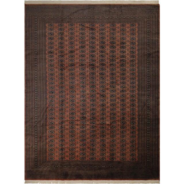 Bokara Arya Leon Rose & Black Wool Rug - 9'4 X 11'11 For Sale