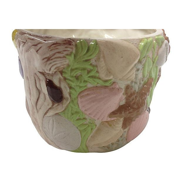 """Cottage """"Under the Sea"""" Ceramic Planter For Sale - Image 3 of 10"""