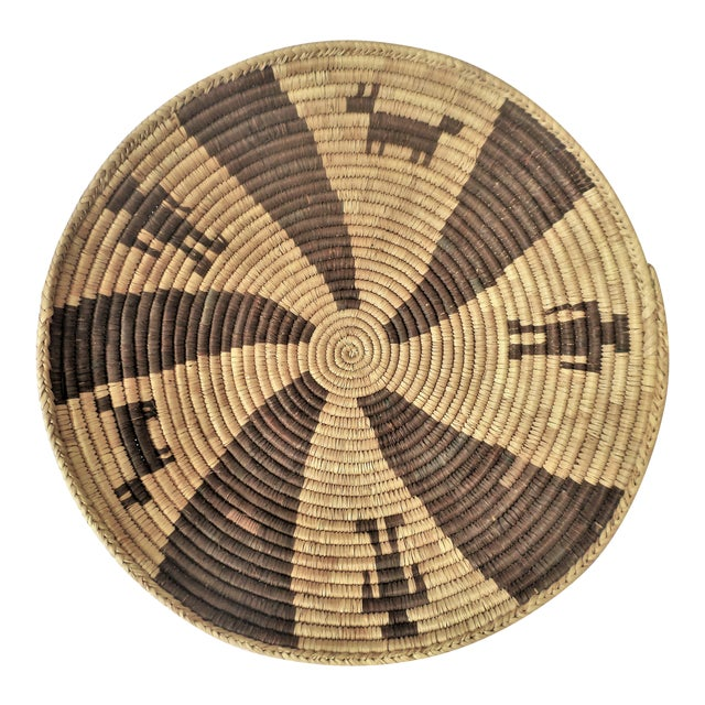 Indian Native American Kumeyaay Mission Tribal Basket For Sale