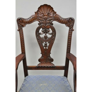 Late 19th Century Antique Mahogany Georgian Chippendale Style Shell Carved Ball and Claw Arm Chair Preview