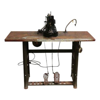 General Electric Singer Commercial Sewing Machine With Table For Sale