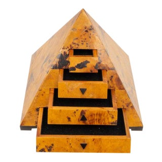 Vintage Oggetti Pyramid Form Jewelry Box For Sale