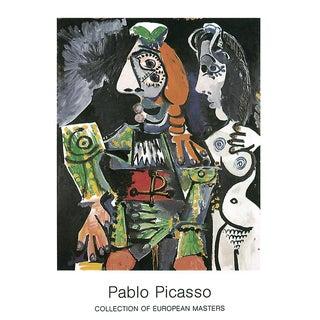 "Pablo Picasso Matador E Femme Nue 35.5"" X 27.5"" Poster Cubism Multicolor, Green Nude, Woman, Man For Sale"
