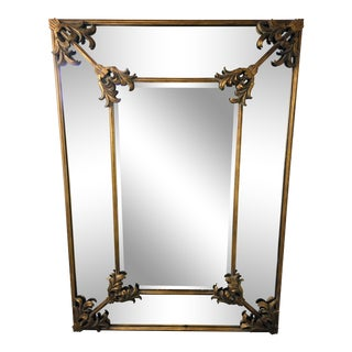 1990s Vintage Monumental Baroque Style Wall Mirror For Sale
