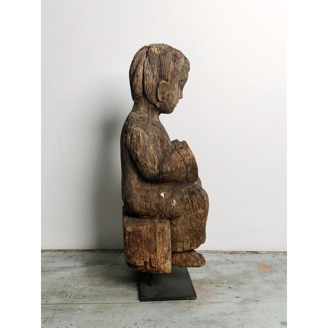 Asian 1900s Antique Southeast Asian Child Carving For Sale - Image 3 of 6