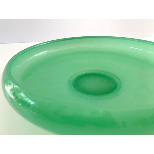 Vintage Green Jadeite Glass Bowl For Sale - Image 4 of 8
