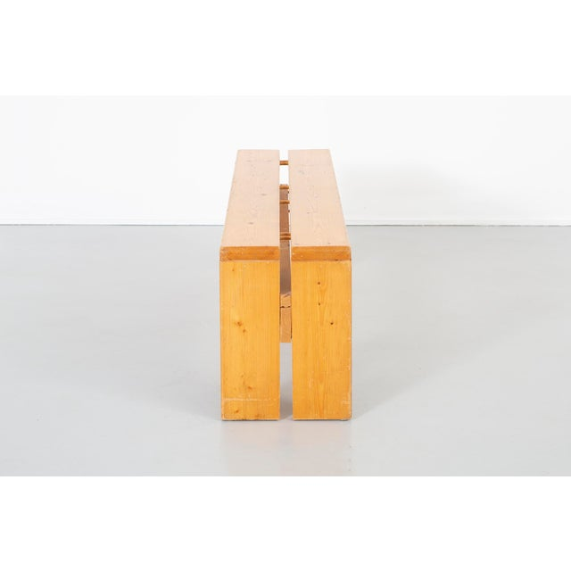 1960s Pair of Les Arcs Pine Benches by Charlotte Perriand For Sale - Image 5 of 13