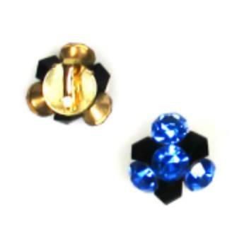 Modern 1960s Weiss Sapphire Swirl Brooch and Earrings Demi-Parure For Sale - Image 3 of 4