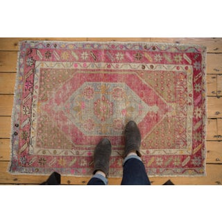 "Vintage Distressed Oushak Rug - 2'9"" X 3'11"" Preview"