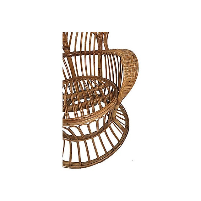 Rattan Wingback Chair by Lio Carminati For Sale - Image 9 of 12