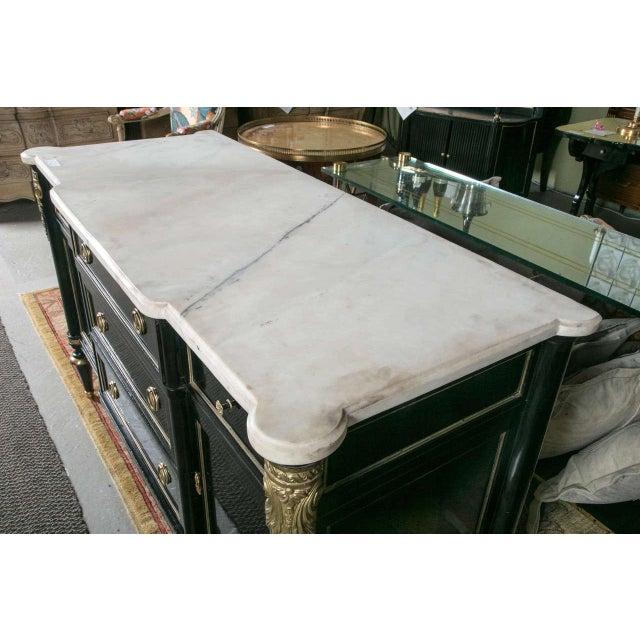 Maison Jansen Ebonized Marble Top Commode For Sale - Image 9 of 11
