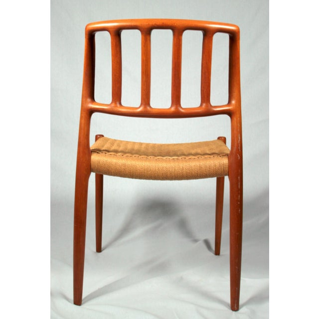 Niels Moller Danish Modern Model No. 83 Teak Dining Chairs - Set of 4 For Sale - Image 5 of 9