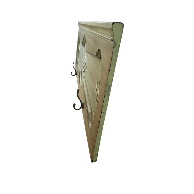 1940s 1940s Vintage Architectural Wood Plaque With Hooks For Sale - Image 5 of 12