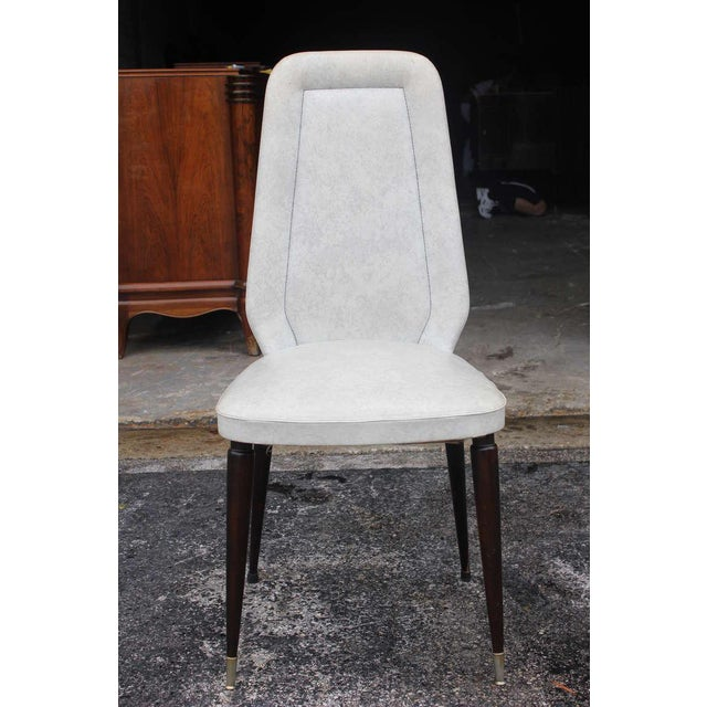 Suite of Six French Art Deco/Art Modern Solid Mahogany Dining Chairs. - Image 6 of 10