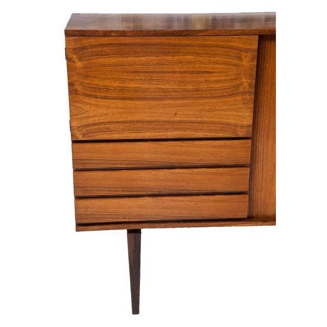 Danish Modern H.W. Klein Rosewood Tamboured Door Console For Sale - Image 3 of 8