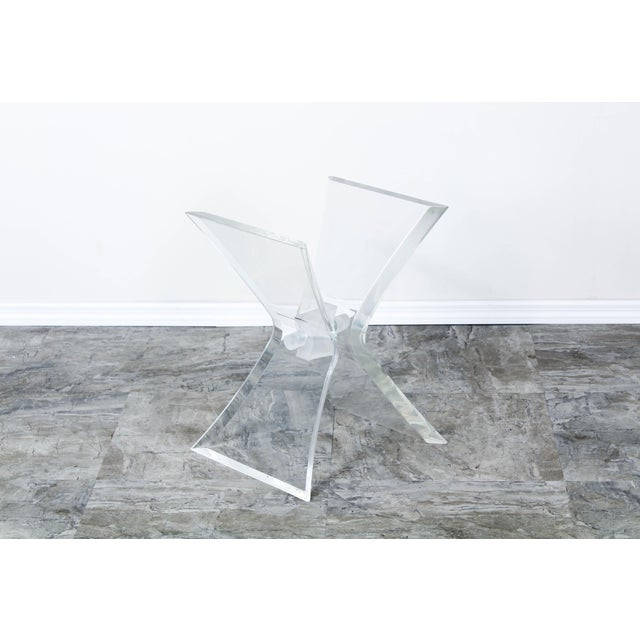 Lucite Butterfly X Base Side Table For Sale - Image 4 of 10
