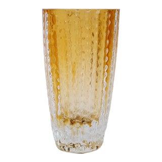 German Modernist Crystal Vase For Sale