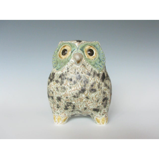 Lladró Little Eagle Owl stoneware figurine sculpted by Antonio Ballester. These desirable little creatures were created...