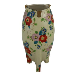 Japanese Art Deco Lusterware Vase Floral with Gold Accent circa 1900's-1940's For Sale