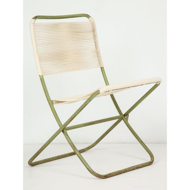 Greta Grossman 1950s Greta Grossman Folding Chairs - a Pair For Sale - Image 4 of 13
