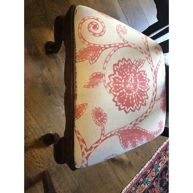 Fabric Chippendale Style Dining Chairs - Set of 10 For Sale - Image 7 of 13