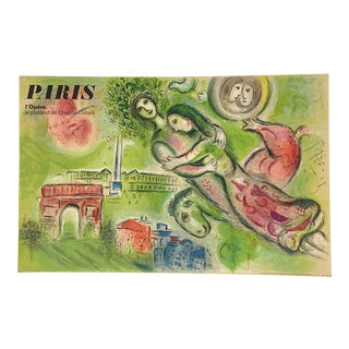 "Marc Chagall Original Vintage 1964 Lithograph Poster ""Romeo and Juliet"" Paris Opera For Sale"