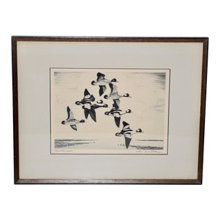 "Churchill Ettinger (American, 1903-1984) ""Butterballs"" Etching C.1940 For Sale"
