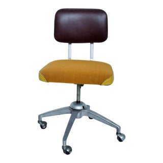 Vintage Rolling Industrial Cosco Tanker Office Desk Chair For Sale
