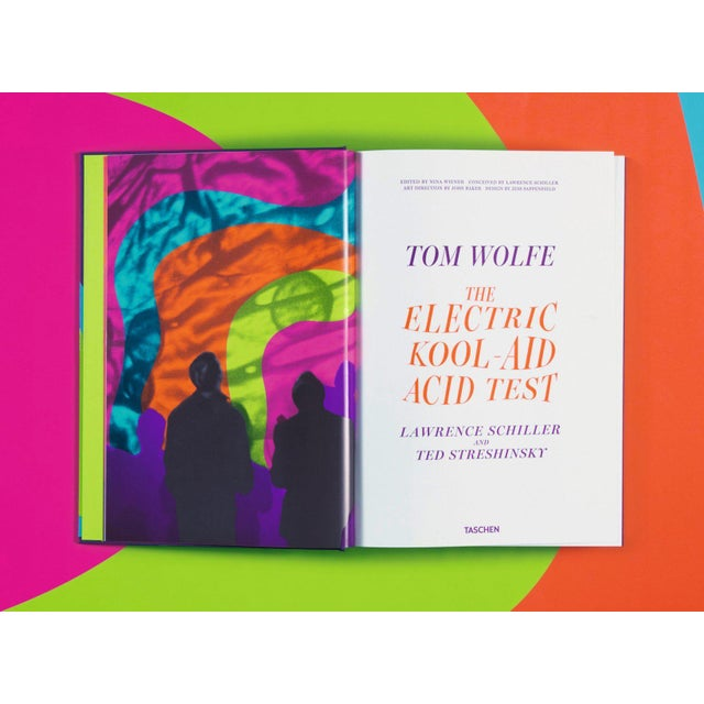 """Not Yet Made - Made To Order """"The Electric Kool-Aid Acid Test"""" Autographed by Tom Wolfe Photography by Lawrence Schiller & Ted Streshinsky Collector's Edition For Sale - Image 5 of 8"""