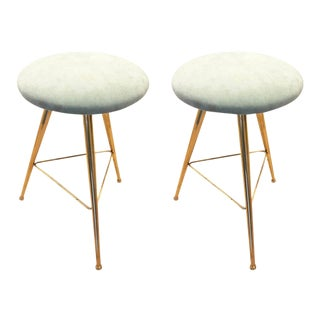 Mid-Century Stools - a Pair For Sale