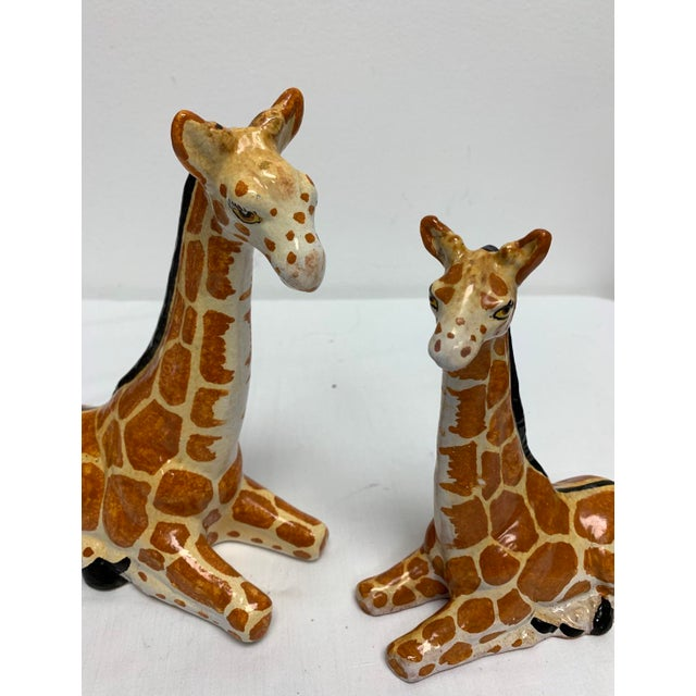 Mid 20th Century Italian Terra-Cotta Giraffe Figurines - a Pair For Sale - Image 5 of 6