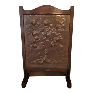 Antique 1920s English Fireplace Screen