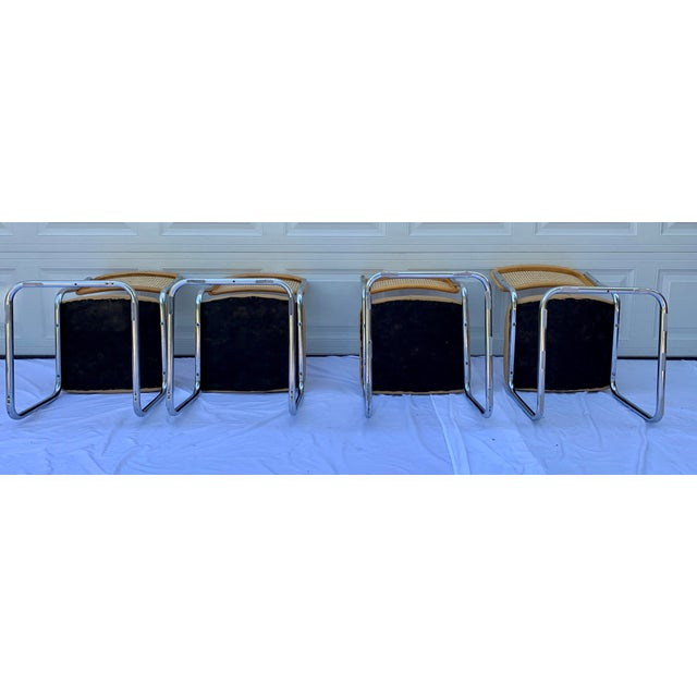 1980s Bauhaus Wicker and Chrome Dining Set - 5 Pieces For Sale - Image 9 of 13