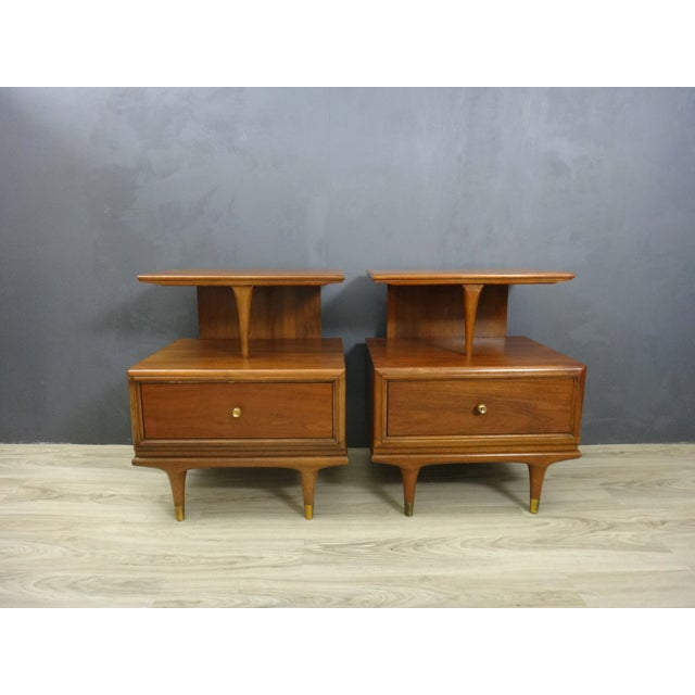 Kent Coffey Continental Bedside Tables - Pair - Image 2 of 6