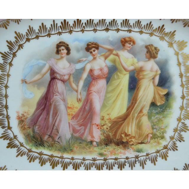 Traditional Porcelain Transfer Portrait Platter For Sale - Image 3 of 7