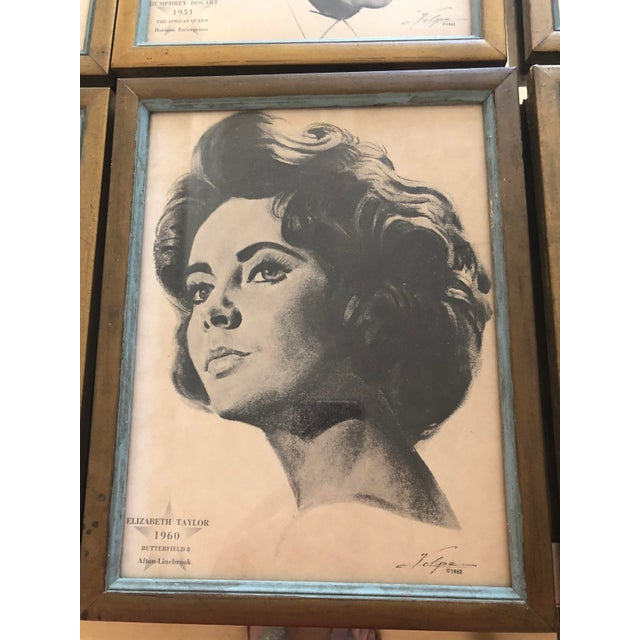 Mid-Century Modern Framed Portraits of Oscar Winners From 1928-1961 - Set of 25 For Sale - Image 3 of 10