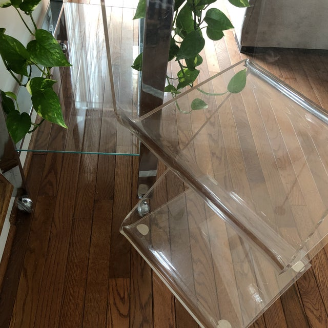 Vintage Z Lucite Side Chair For Sale In Atlanta - Image 6 of 9