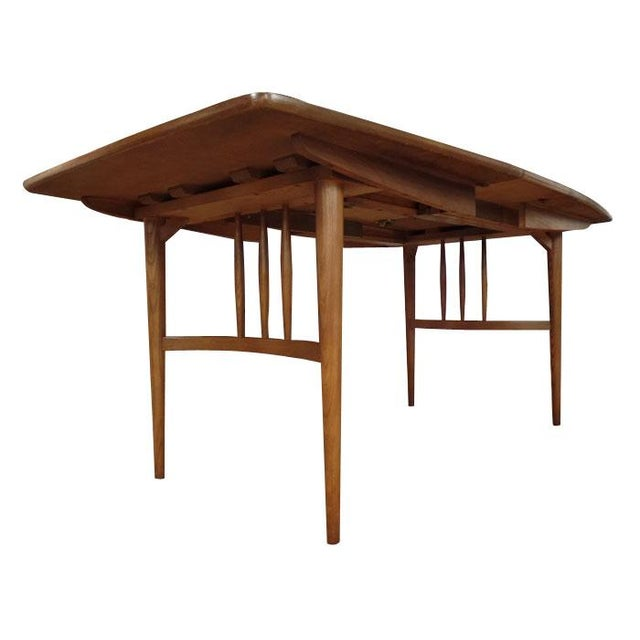 Mid-Century Modern Bowed Table - Image 2 of 3