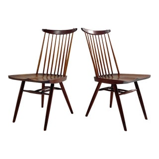 George Nakashima New Chairs, Pair For Sale