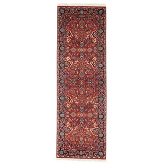 "Pasargad N Y Persian Kashan Wool Runner Rug - 2'1"" X 6'6"" For Sale"