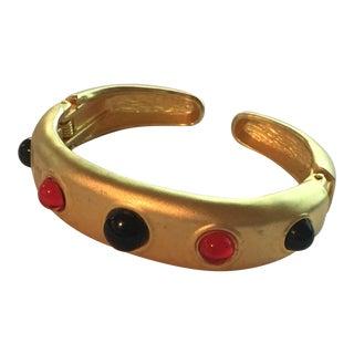 Matte Cabochon Cuff Bracelet For Sale