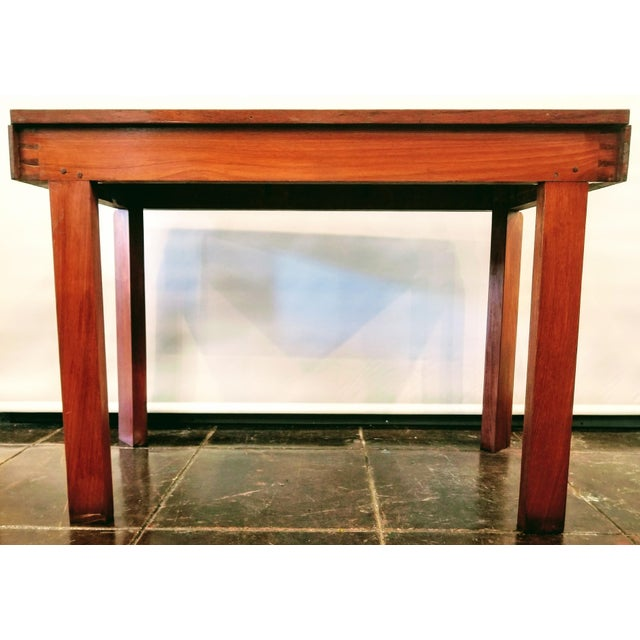 Early 20th Century Streamline Art Deco Padauk Wood Writing Desk / Pier Table / Console Table For Sale - Image 5 of 6