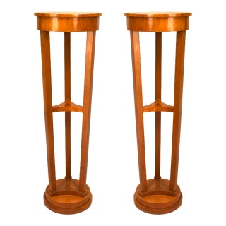 Austrian Biedermeier Maple Pedestals For Sale
