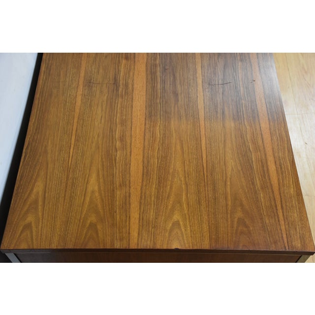 Walnut Lehigh Leopold Walnut Executive Desk For Sale - Image 7 of 11