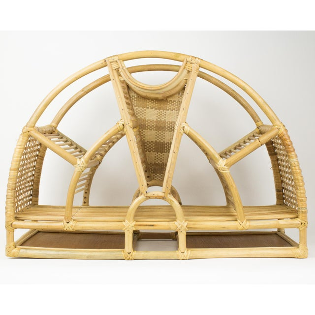 1970s Bohemian Rattan and Wicker Style Wall Desk Organizer For Sale - Image 12 of 12