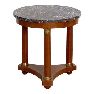 French Marble-Top Table or Guéridon in the Empire Style For Sale