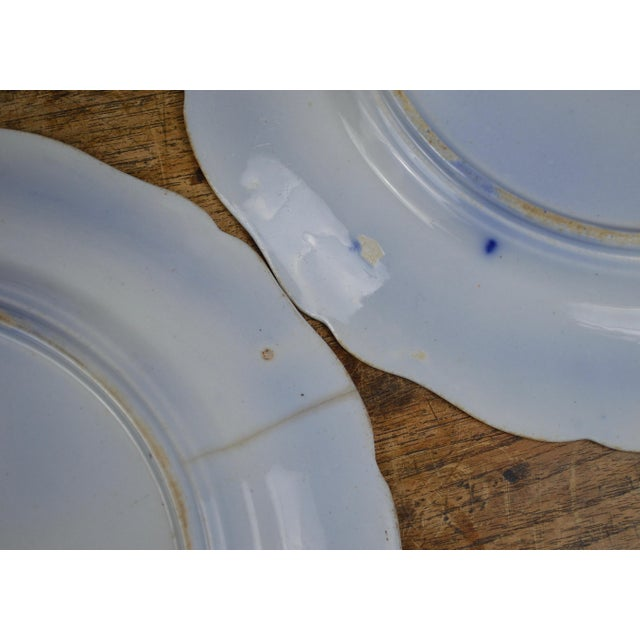 19th Century English Ironstone Blue and White Chinoiserie Plates- Set of 12 For Sale - Image 10 of 13