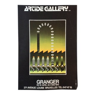 "Mid-Century Original ""Artide Gallery Brussels, Belgium"" Art Exhibition Poster For Sale"