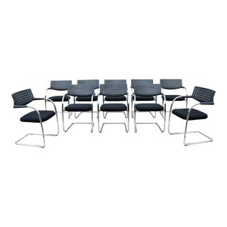 Modern Antonio Citterio for Vitra Visasoft Visavis Guest and Conference Chairs Set of 10 For Sale